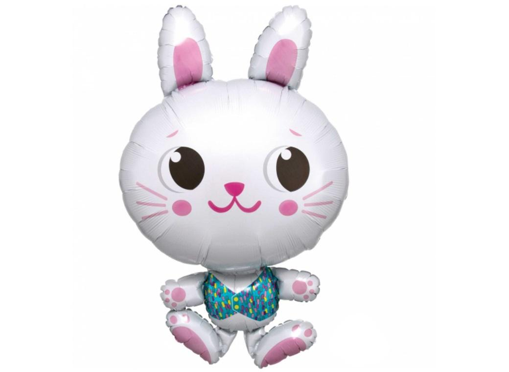 Cute Bunny SuperShape Foil Balloon