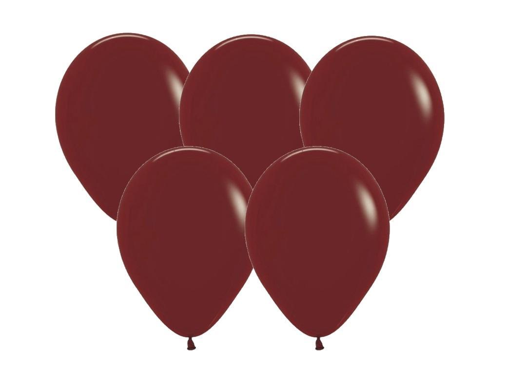 Burgundy Balloons 25pk