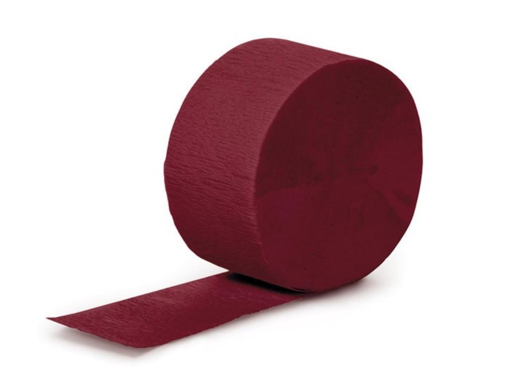 Crepe Paper Streamer - Burgundy