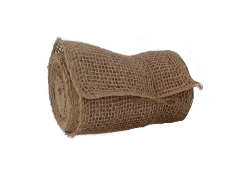 Natural Burlap Roll Open Weave 15cm X 4.5m