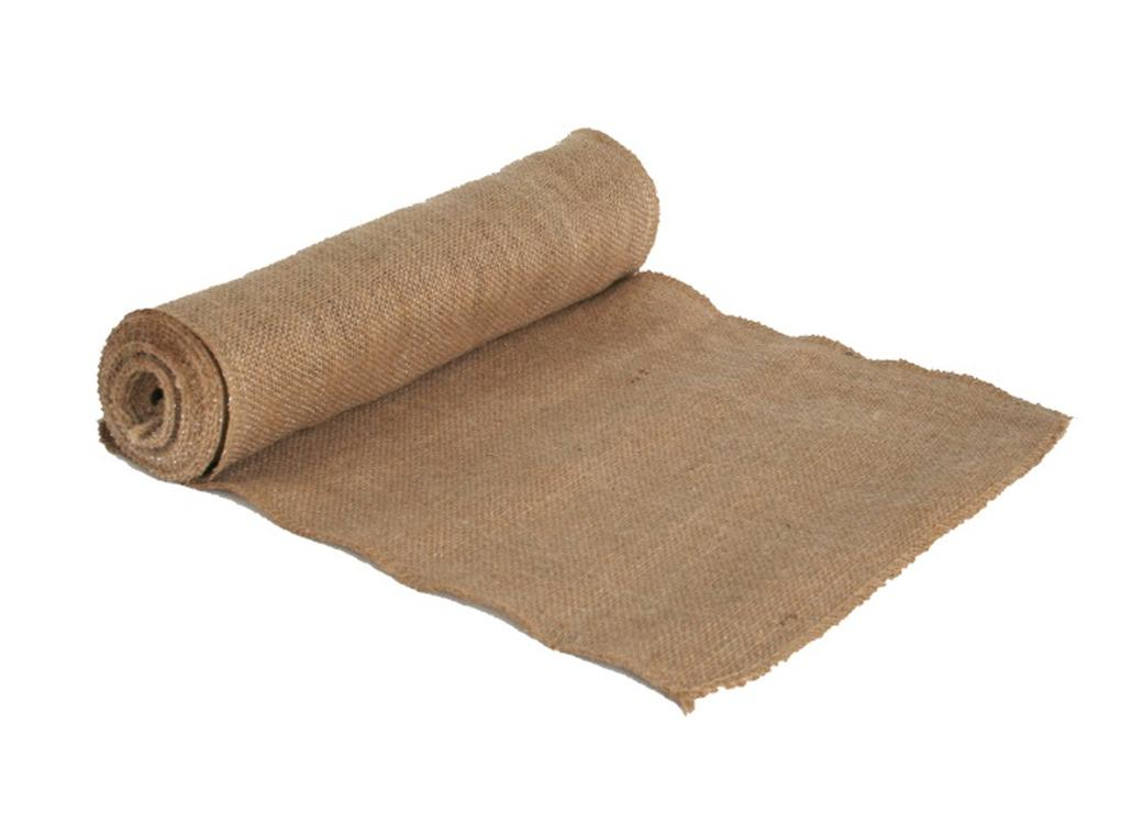 Natural/Silver Burlap Roll 30cm x 4.5m