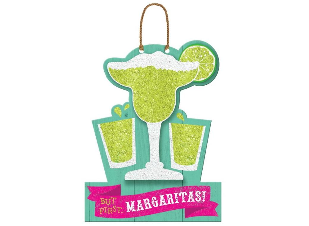 Fiesta But First Margaritas Hanging Sign