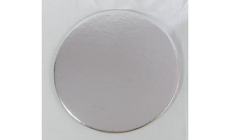 "Cake Card 2mm - 4"" Round Silver"