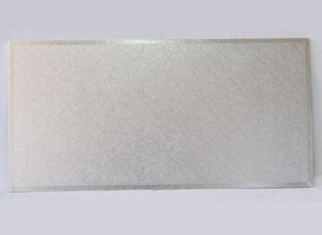 "Cake Board MDF Rectangle 20""X14"" - Silver"