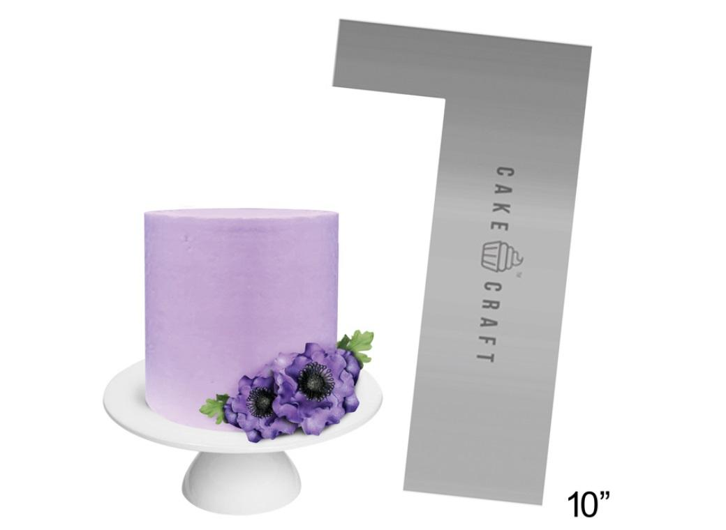 Cake Craft Steel Scraper Straight Edge 10in