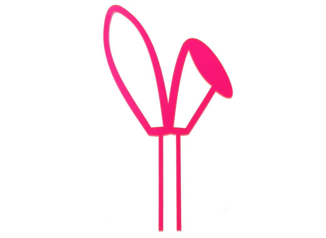Bunny Ears Cake Topper - Pink