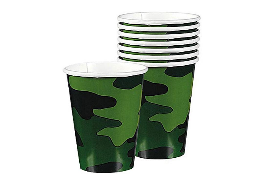 Camouflage Party Cups 8pk