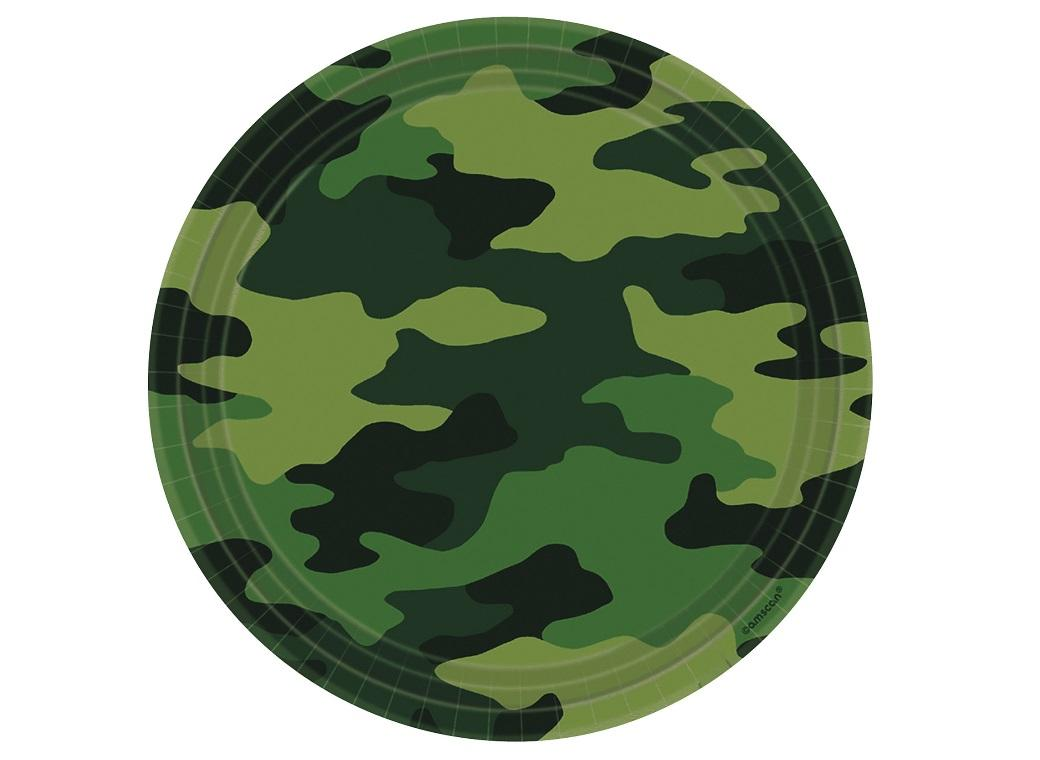 Camouflage Dinner Plates 8pk