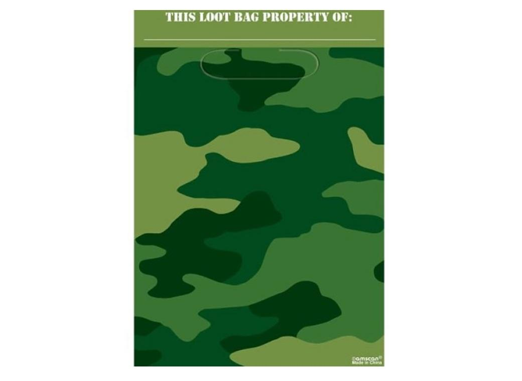 Camouflage Loot Bags 8pk