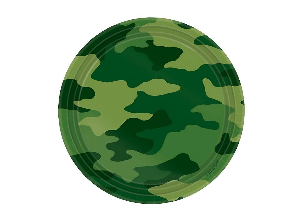 Camouflage Lunch Plates 8pk