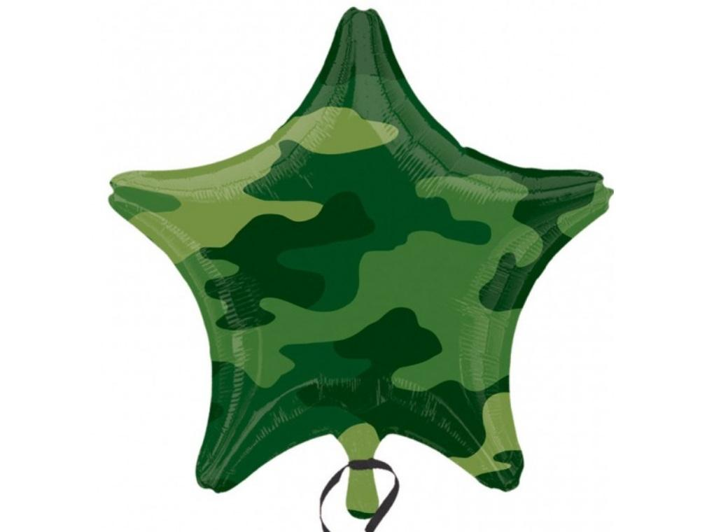 Star Shaped Foil Balloon - Camo