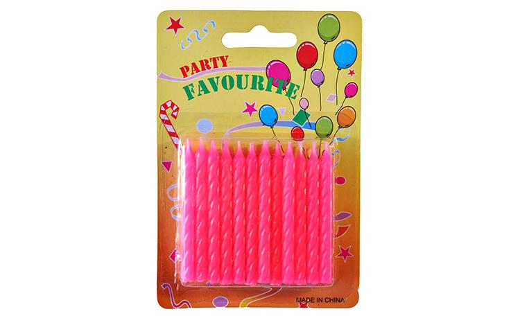 Twist Candles Pink - 24pk