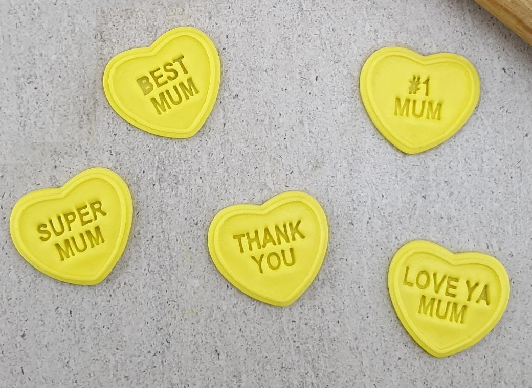 Cutter & Embosser Set - Candy Heart Mum