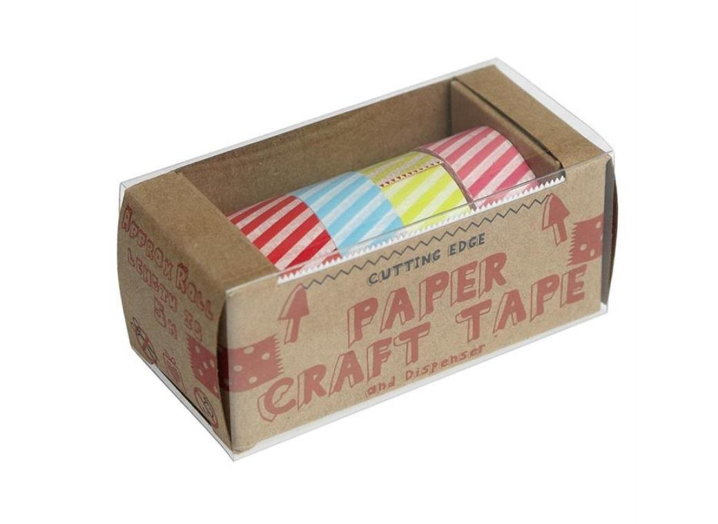 Washi Tape Candy Stripe - 4pk