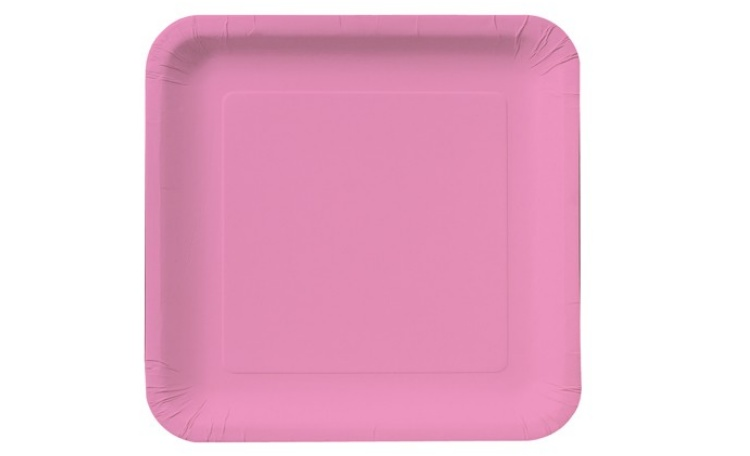 Dinner Plate Square - Candy Pink 12pk