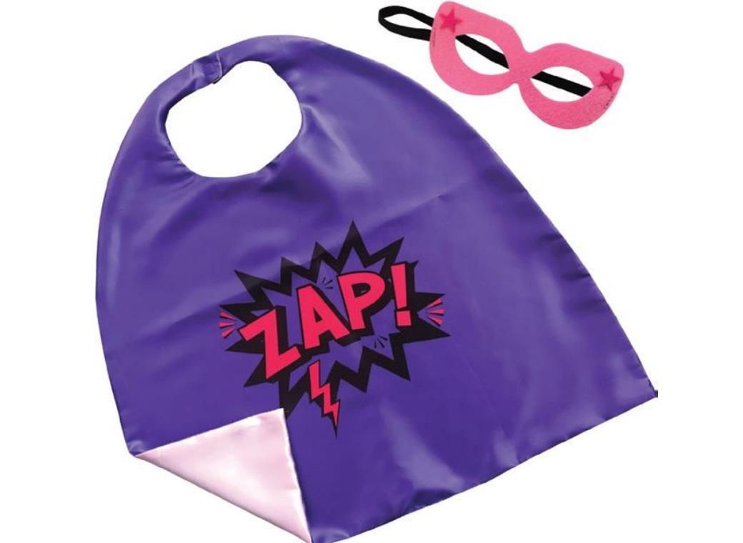 Cape & Mask Set - Zap Purple