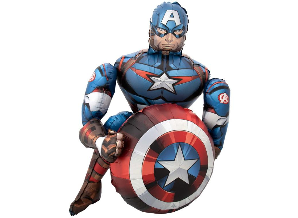 Captain America Airwalker Foil Balloon