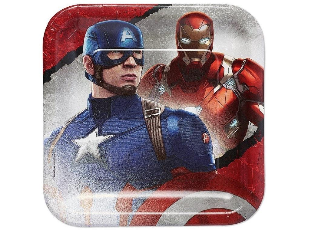 Captain America Civil War Dinner Plates 8pk