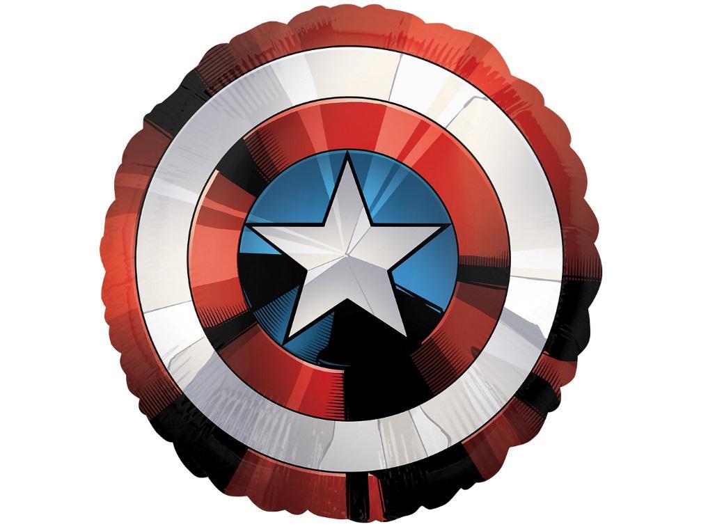 Captain America Giant Shield Foil Balloon