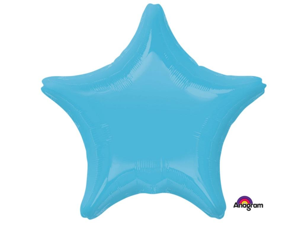 Star Shaped Foil Balloon - Caribbean Blue