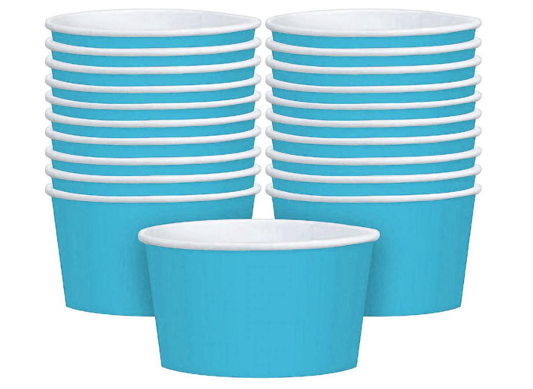 Treat Cups 20pk - Caribbean Blue