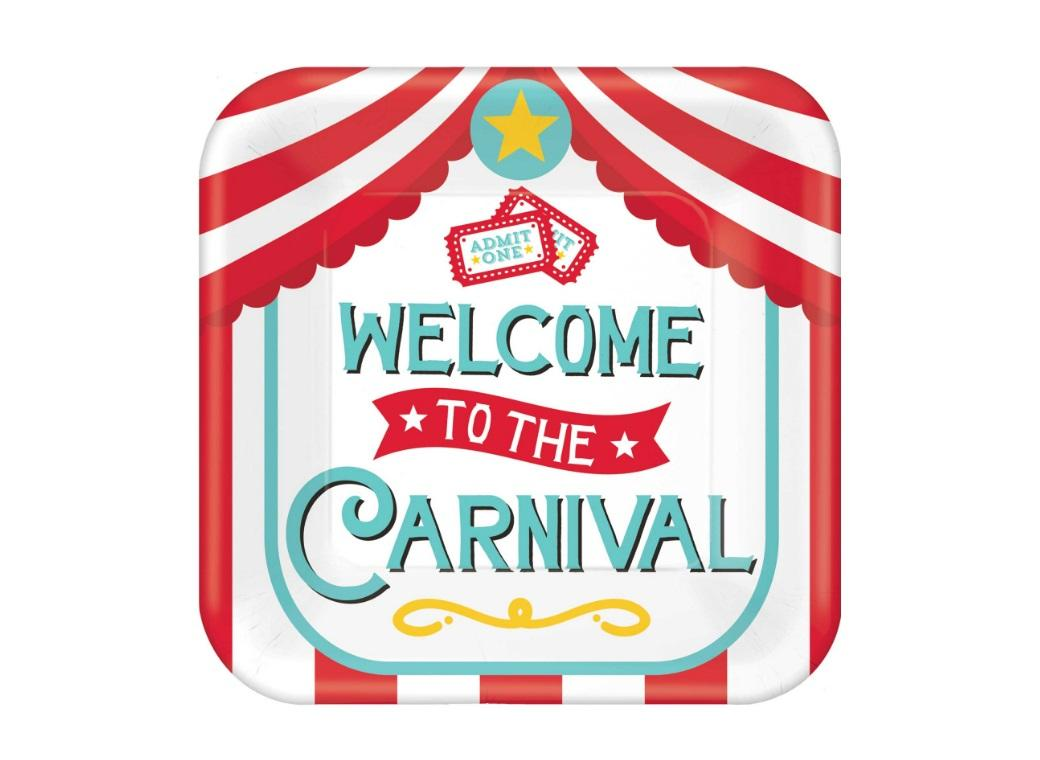 Carnival Games Lunch Plates 8pk