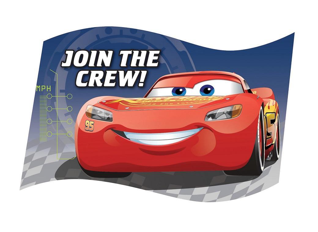 Cars 3 Invitations 8pk