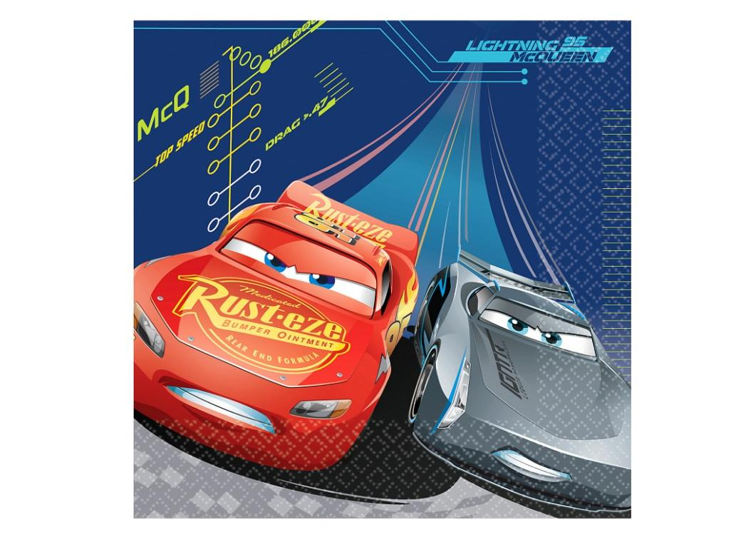 Cars 3 Lunch Napkins 16pk