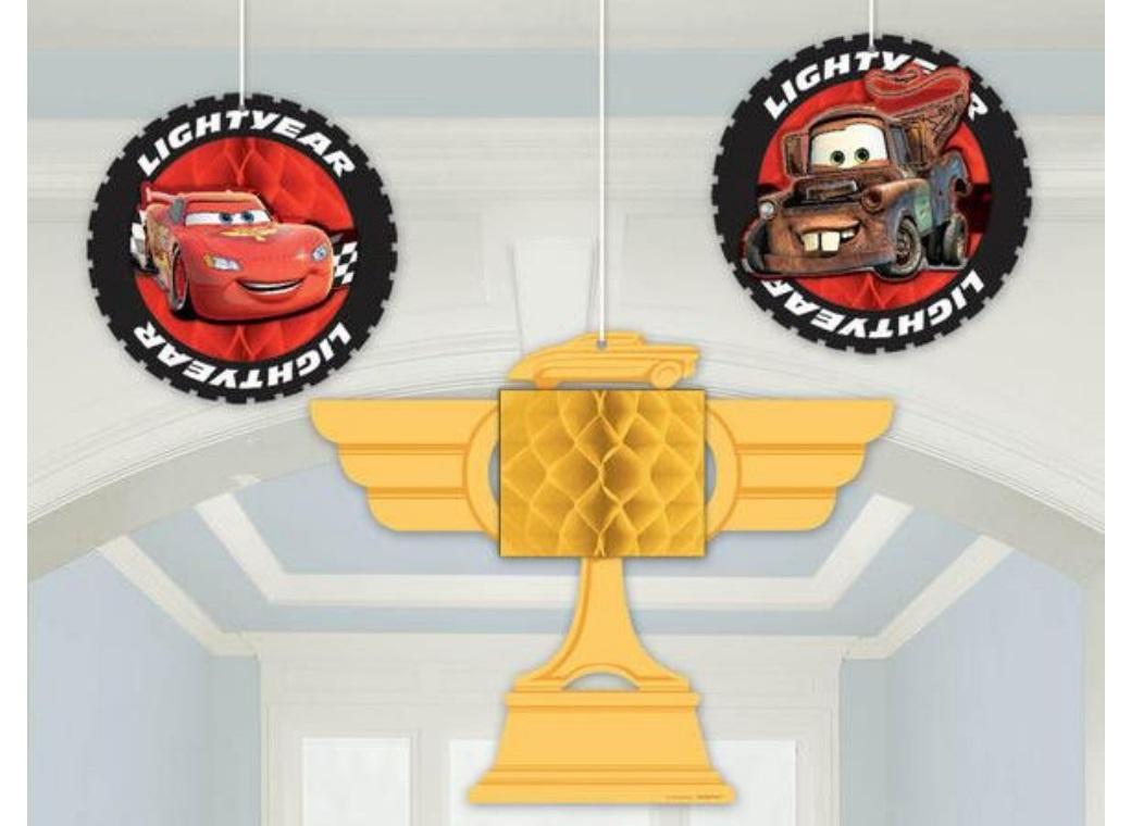 Cars Honeycomb Hanging Decorations