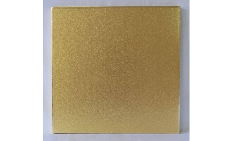 "Cake Board 14mm - 12"" Square Gold"