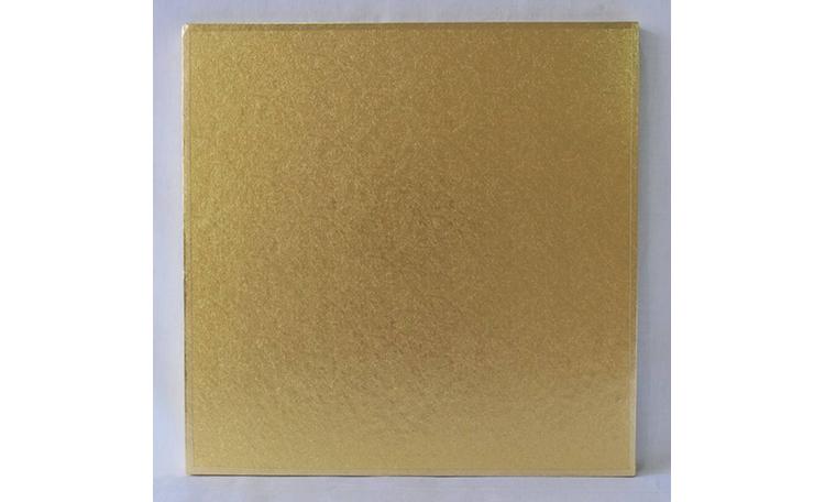 """Cake Board 14mm - 12"""" Square Gold"""