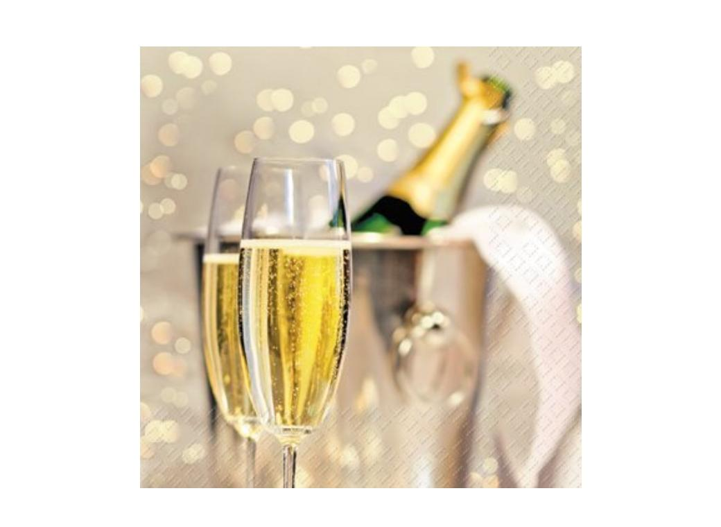 Champagne Lunch Napkins 20pk