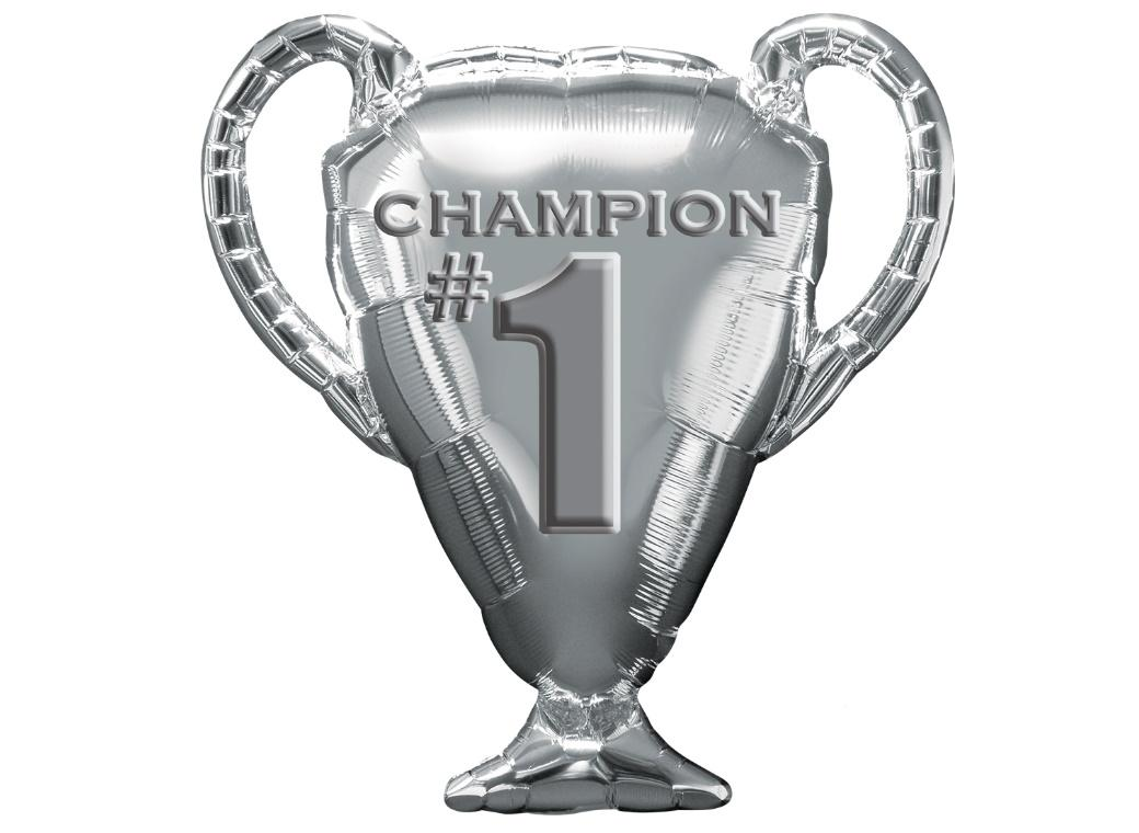 Silver Trophy SuperShape Foil Balloon
