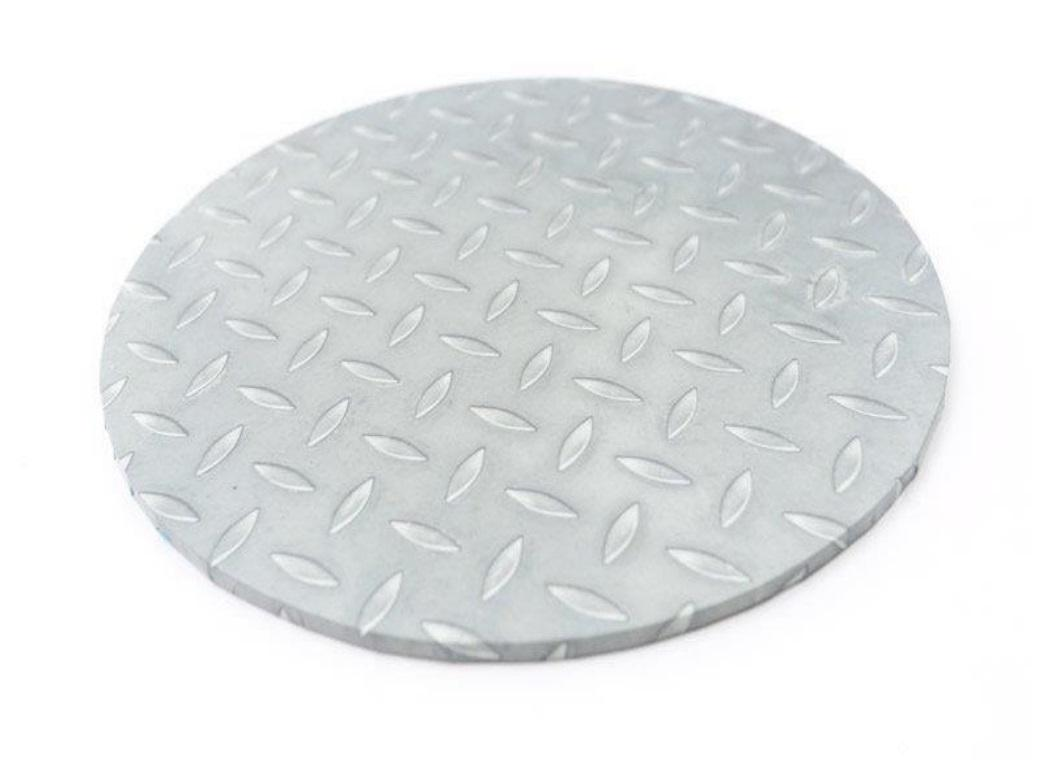 Checker Plate Masonite Cake Board Round 14""