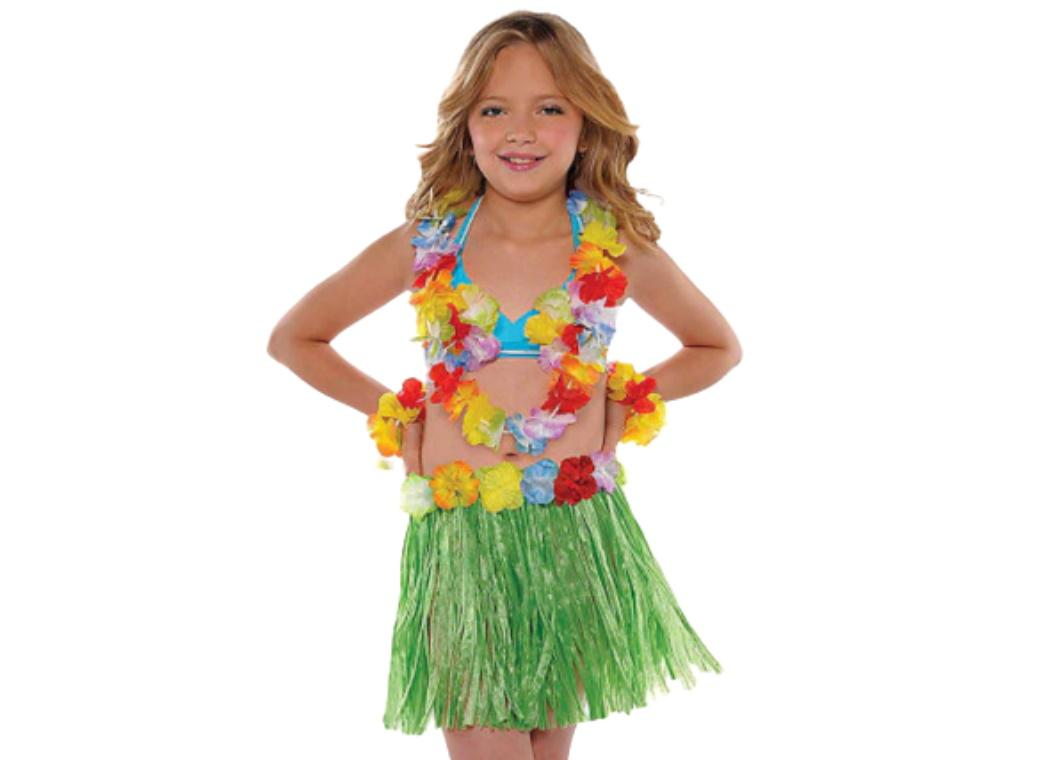 Child's Hula Skirt Set - Green