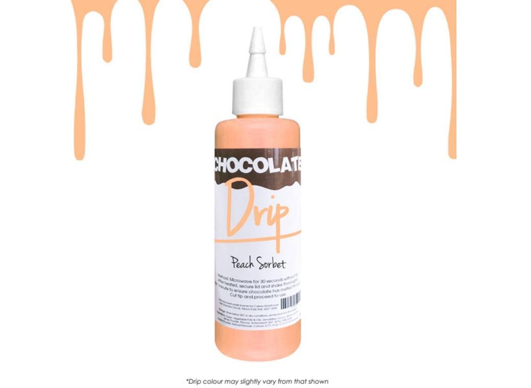 Chocolate Drip - Peach Sorbet