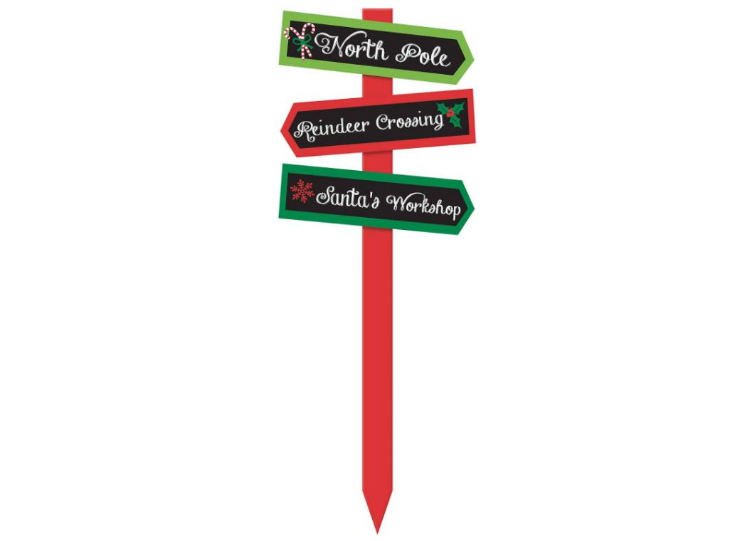 Christmas Arrows Yard Sign