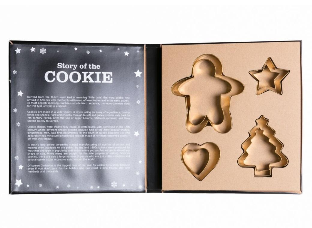 Christmas Gold Cookie Cutter Set 8pce