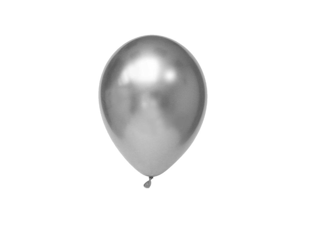 Chrome Balloon Silver 7in