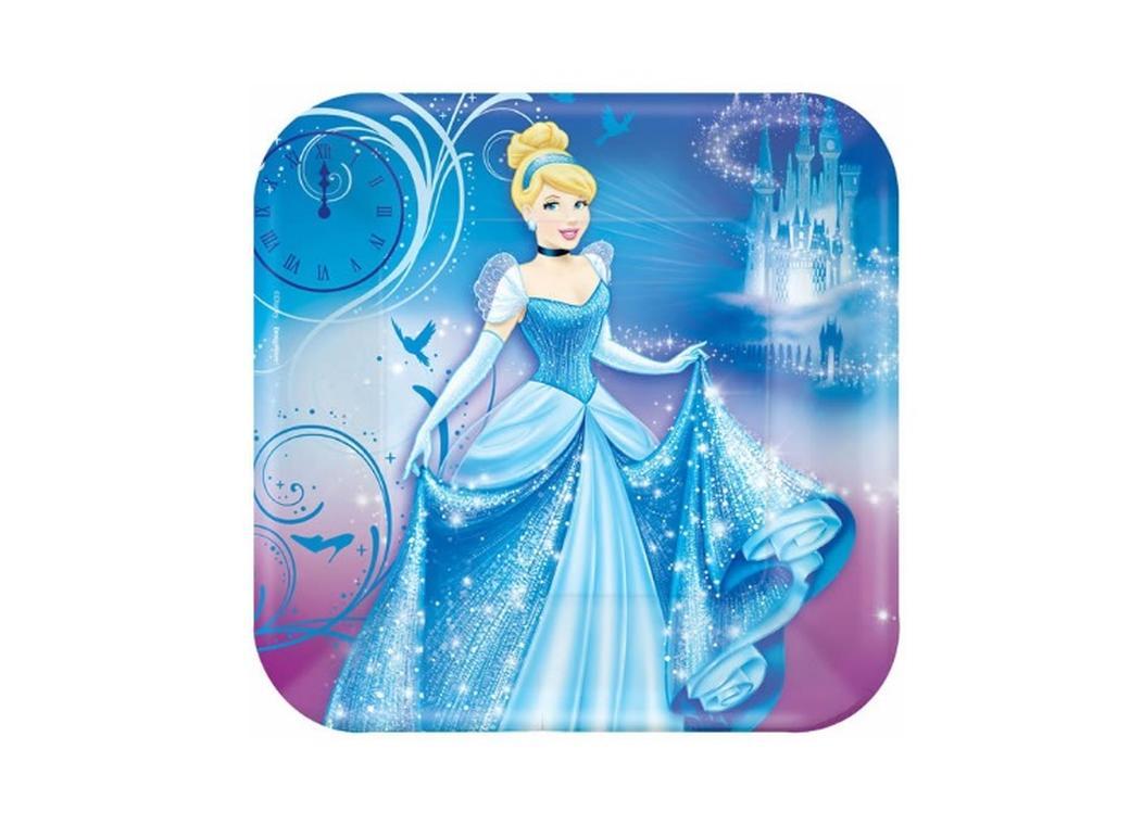 Cinderella Square Dinner Plates - 8pk