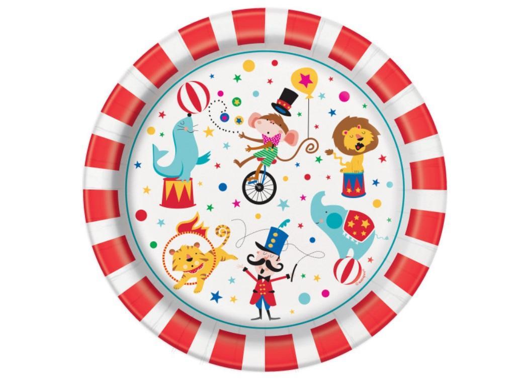 Circus Carnival Dinner Plates 8pk