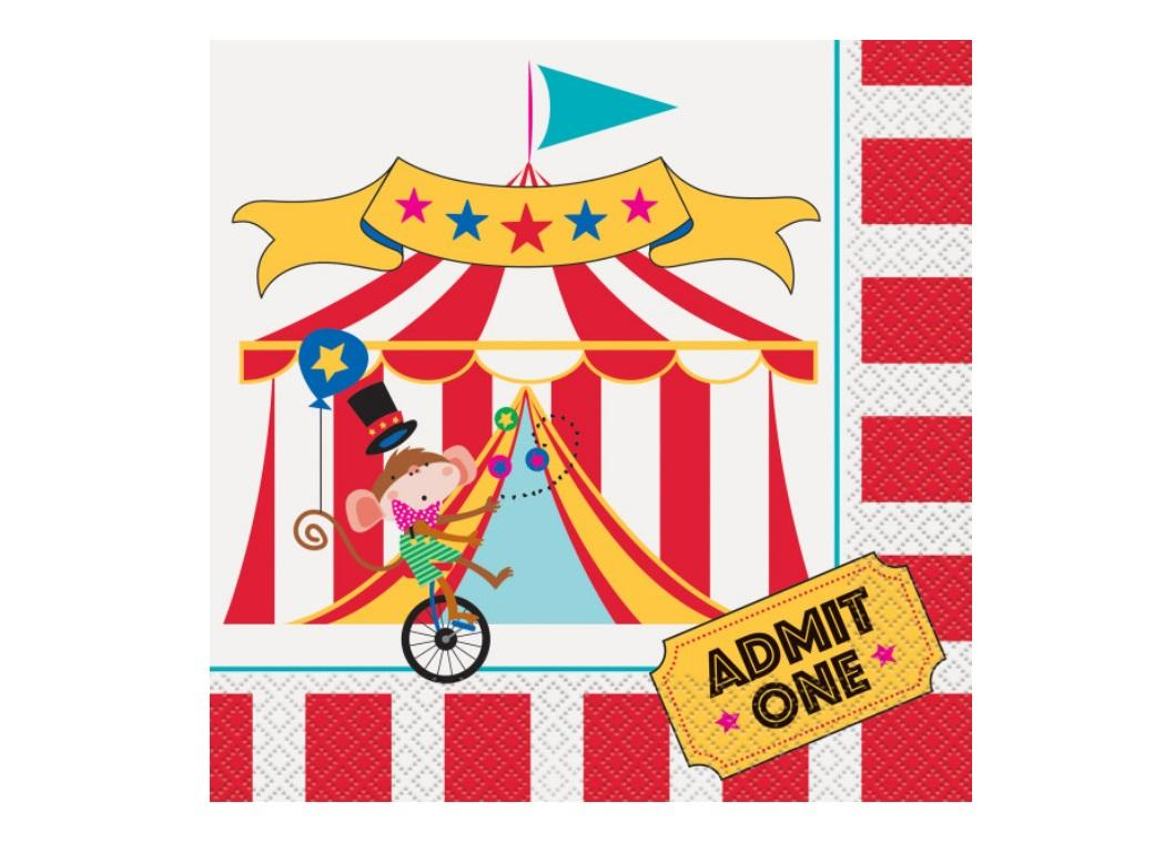 Circus Carnival Lunch Napkins 16pk