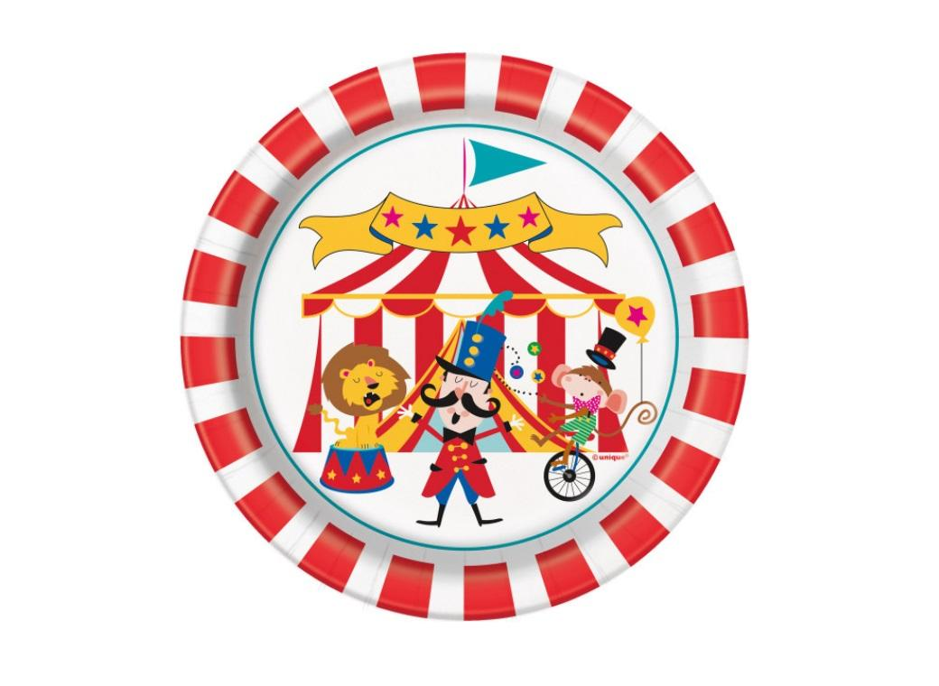 Circus Carnival Lunch Plates 8pk