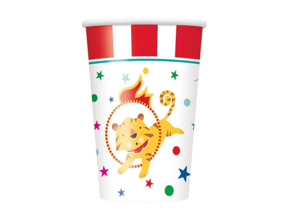 Circus Carnival Cups 8pk
