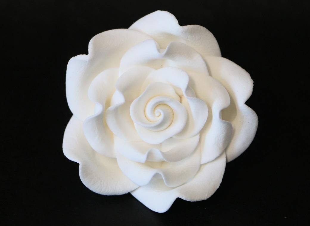 Gumpaste Classic Rose Jumbo - White