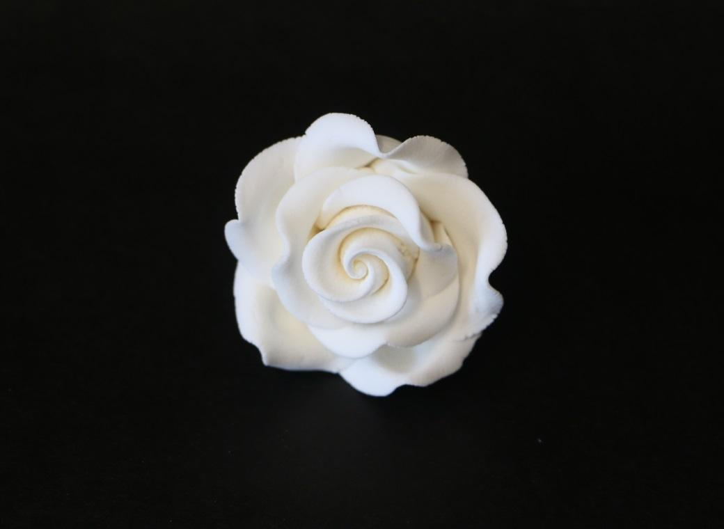Gumpaste Classic Rose Medium - White