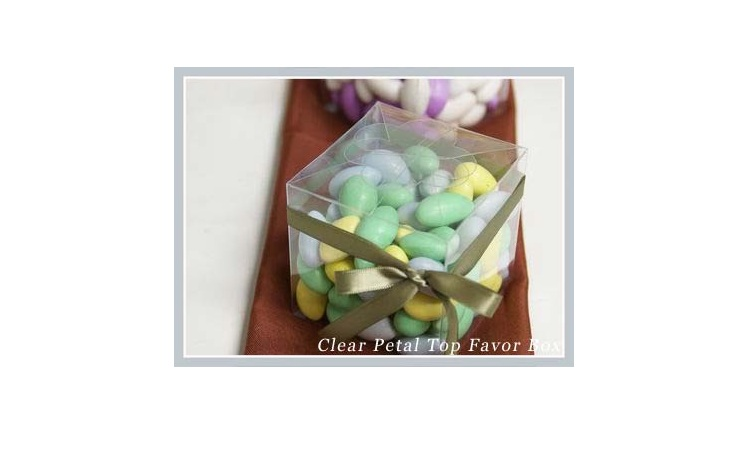 Clear Favour Box - Square Petal