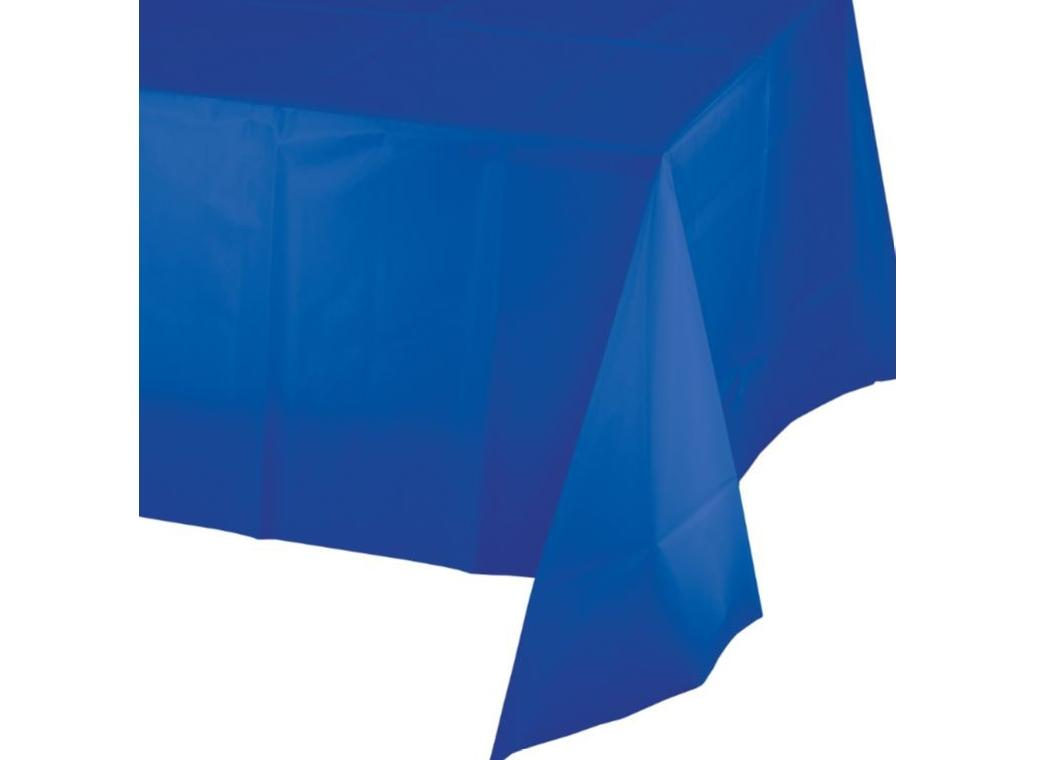 Cobalt Blue Plastic Table Cloth
