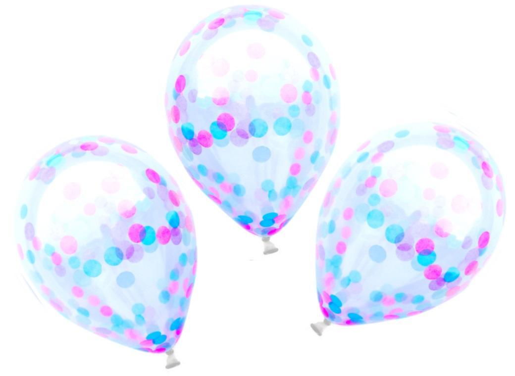 Confetti Balloons 3pk - Mermaid