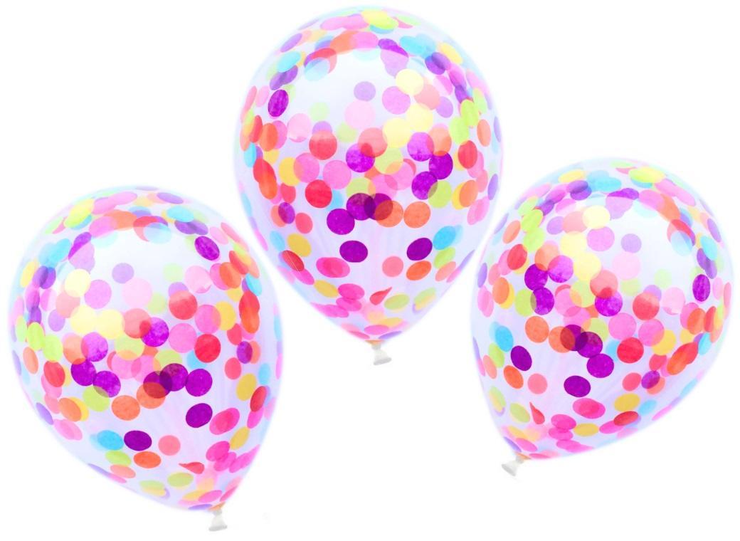 Confetti Balloons 3pk - Rainbow